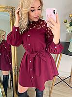 Молодежное платье рубашка на кнопках  Креп костюмка Размер 42 44 46 48 В наличии 5 цветов