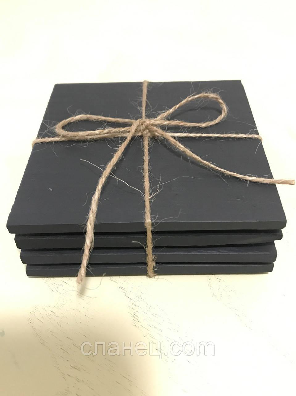 Набор из 4 шт костеры 10 х 10 см; натур., коллекция английский сланец