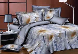 Полуторный размер постельное белье «Большие ромашки»