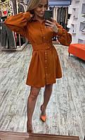 Платье женское стильное терракот красный чёрный белый