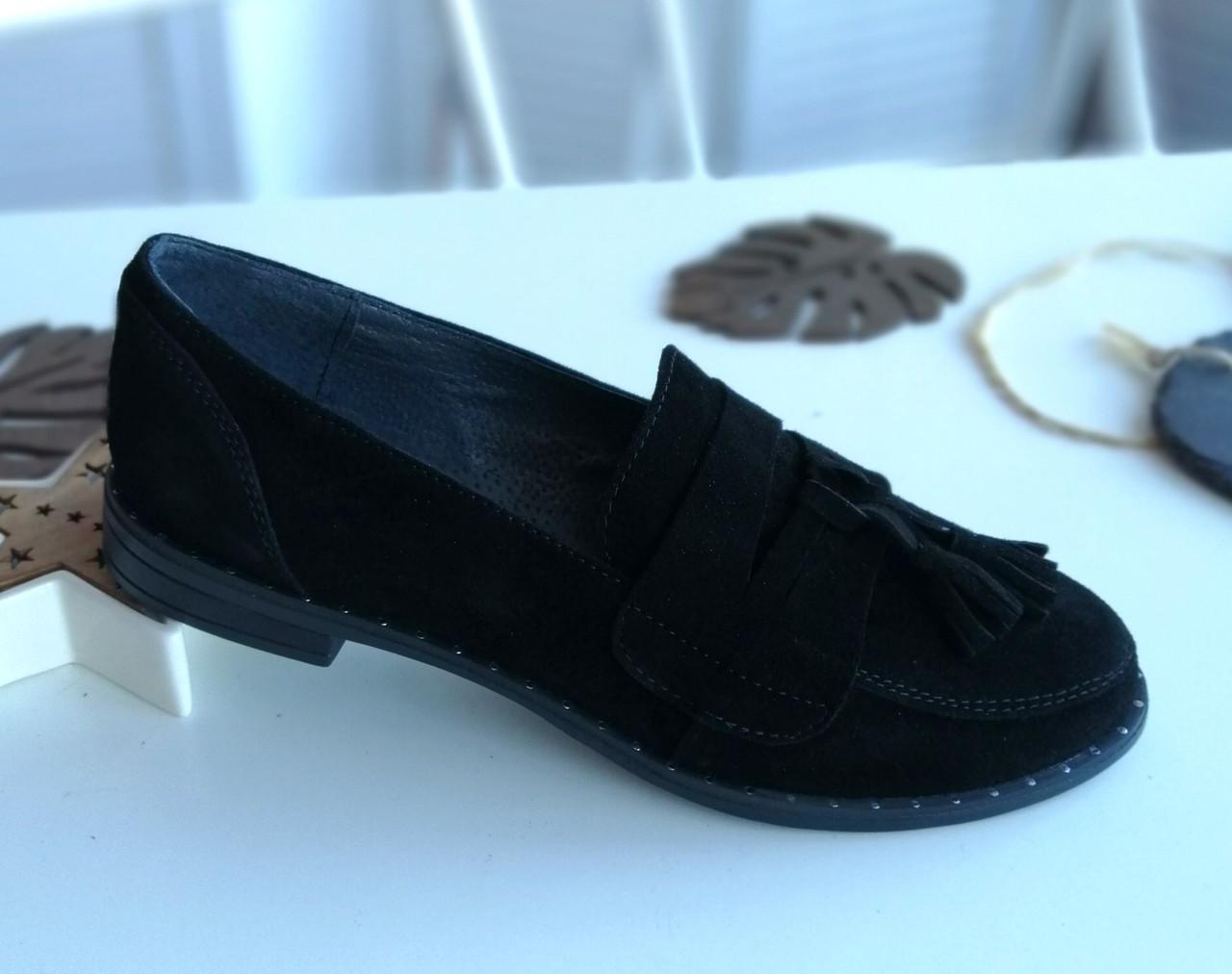 Замшевые лоферы фабричная обувь