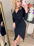 Женское платье с имитацией запаха  Креп костюмка Размер 42 44 46 48 Разные  цвета