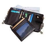 Гаманець шкіряний чоловічий. Портмоне гаманець з натуральної шкіри (чорний), фото 4