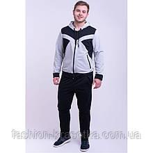 Мужской спортивный костюм серого цвета,размеры:48,50,52,54,56.