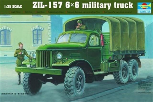 ЗИЛ-157 советский армейский грузовик. 1/35 TRUMPETER 01001