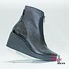 Черные женские ботинки на платформе