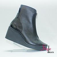 Черные женские ботинки на платформе, фото 1