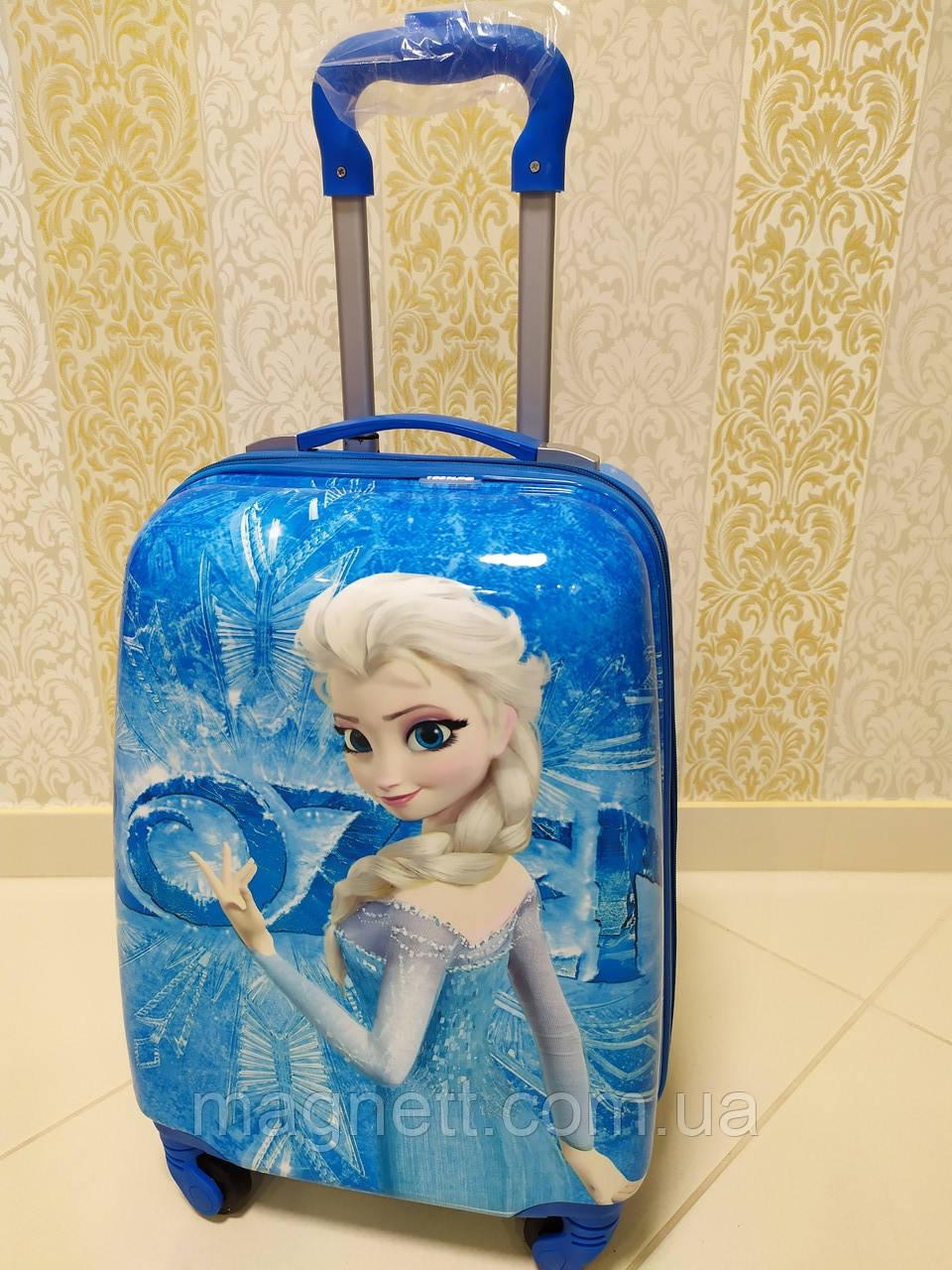 """Детский чемодан на 4 колесах для девочки Ельза """"Холодное сердце"""" 45*31*21"""