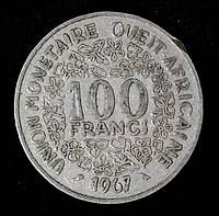 Монета Западной Африки 100 франков 1967 г.
