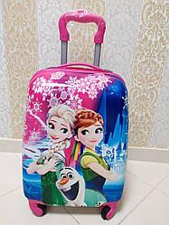 """Детский чемодан на 4 колесах для девочки Анна и Ельза """"Холодное сердце"""" 45*31*21"""