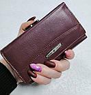 Женский кошелек цвета тёмная пудра  из натуральной кожи, фото 2