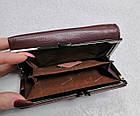 Женский кошелек цвета тёмная пудра  из натуральной кожи, фото 4