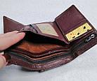 Женский кошелек цвета тёмная пудра  из натуральной кожи, фото 5