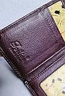 Женский кошелек цвета тёмная пудра  из натуральной кожи, фото 6