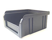 Ящик пластиковый 703NEW черный, с размерами ДхШхВ 90х100х50 мм  (объем 0,2л), фото 1