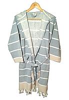 Банный халат для хамама и саун  Хлопок 100%, Турция  Голубой