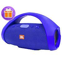 ☞Музыкальная колонка BL JBL Boombox mini Blue аккумулятор мощные динамики Bluetooth AUX FM радио
