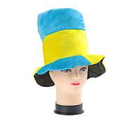 Карнавальная шляпа для болельщика желто-голубая