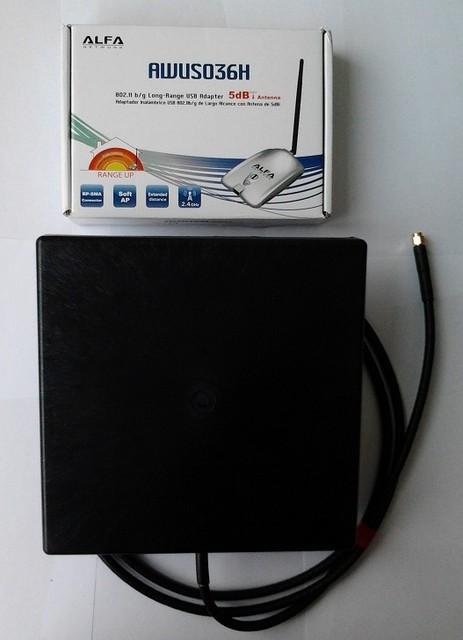 Alfa AWUS036H 1000 mW + 15dbi wi-fi антенна