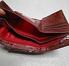 Женский кошелек цвета марсала из натуральной кожи, фото 3