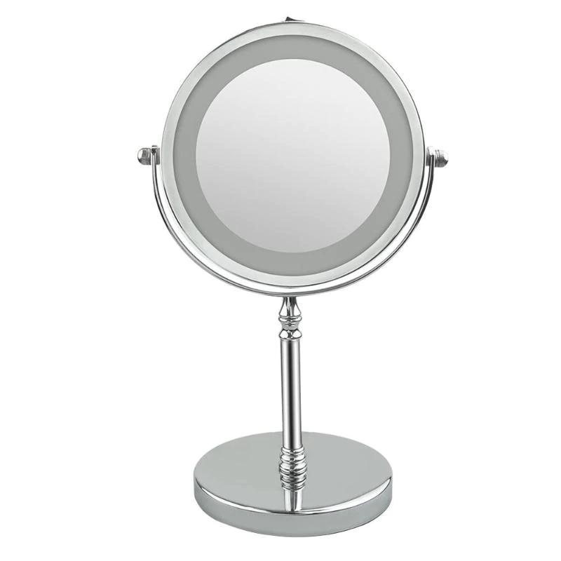 Зеркало для макияжа с подсветкой и 10X увеличением 360°