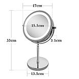 Зеркало для макияжа с подсветкой и 10X увеличением 360°, фото 4