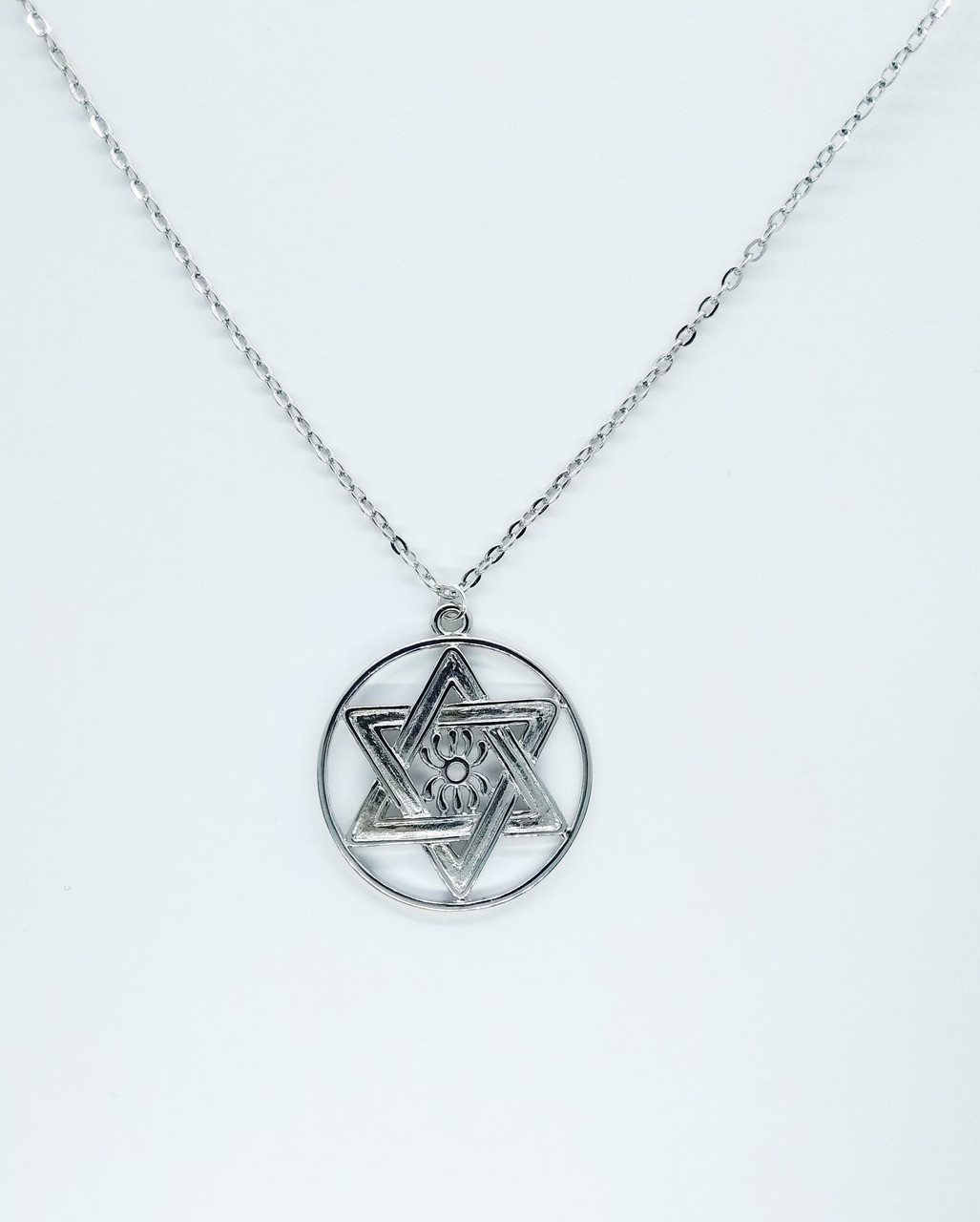 Подвеска кулон Звезда Давида Шестиконечная шестигранная еврейская амулет оберег талисман