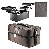 Сумка-чемодан для мастера тканевая Коричневая