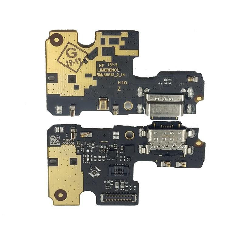 Плата нижня (плата зарядки) Xiaomi Mi A3 з роз'ємом зарядки і компонентами (Original)