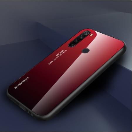 Чехол Gradient для Xiaomi Redmi Note 8 Red-black.