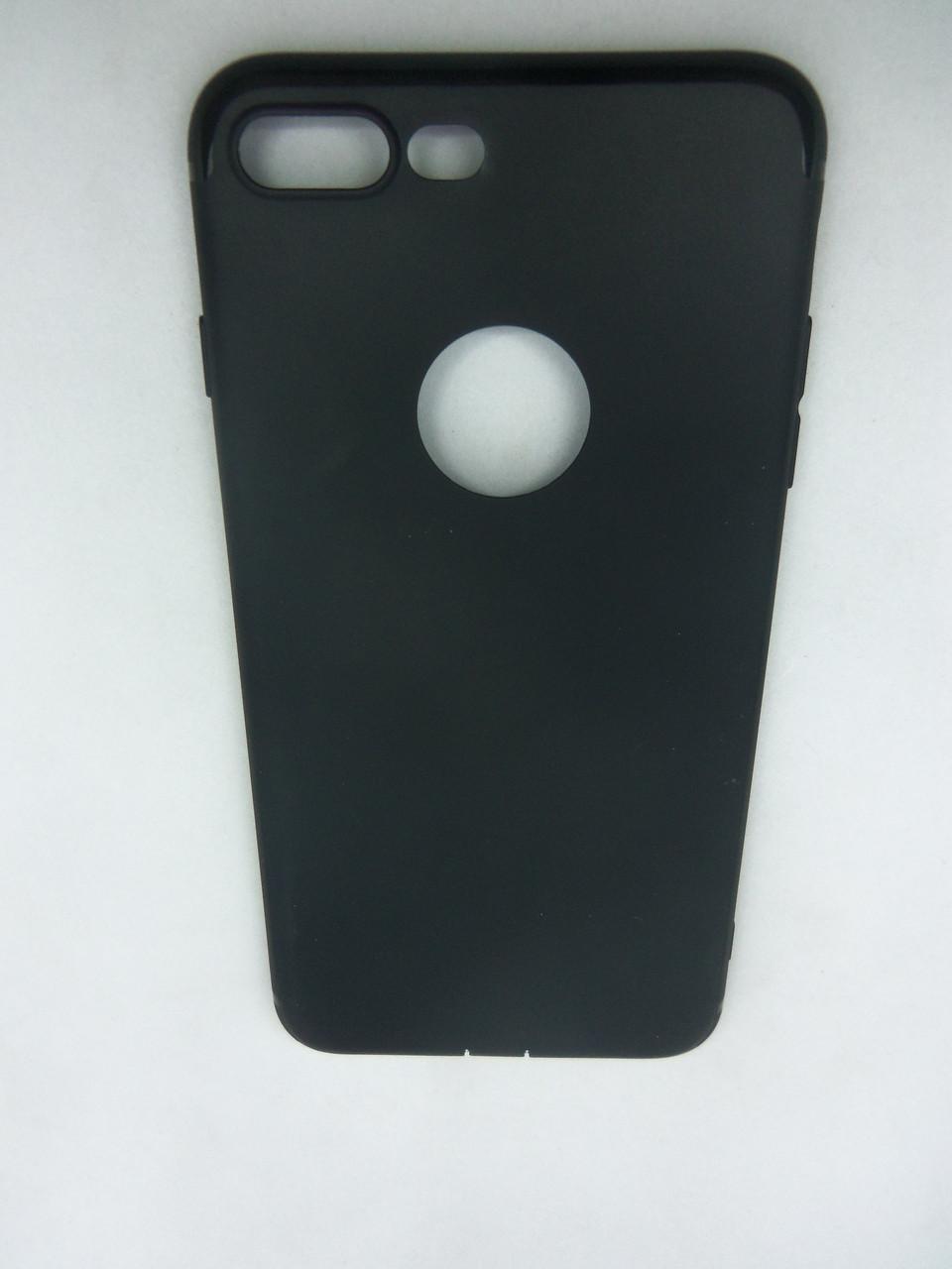 """Чехол силиконовый супер тонкий  Super Slim  iPhone7 plus , iPhone 8 plus 5,5"""" черный"""