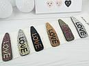 Заколки для волос тик-так 8 см цветные кристаллы 6 шт/уп., фото 2