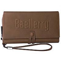 ➤Кошелек для мужчин Baellerry GUERO S1393 Brown для хранения кредитных карт монет на змейке мужской