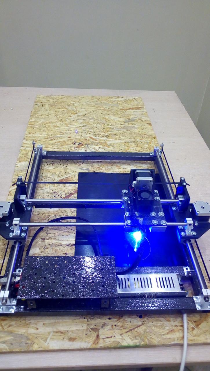 Лазерный гравер с ЧПУ, лазерный станок, гравировальный станок 2,5 Вт