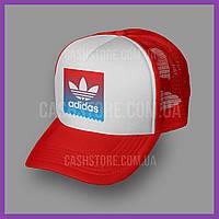 Кепка Тракер Adidas Originals 'Skateboarding Logo' | Красная с белым лбом, фото 1