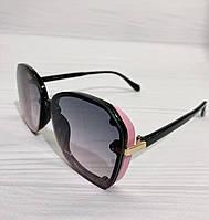 Женские солнцезащитные очки с градиентом розово-голубые