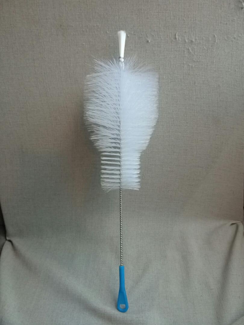 Ершик для колбы  для кальяна большой 50  см белый ручка красная