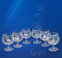 Набор коньячных бокалов из хрусталя Julia Охота FK6216 (6 штук/160 мл)