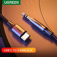 Кабель нейлоновый USB Type-C на 3.5 фирмы Ugreen 1м