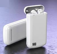 Наушники беспроводные Bluetooth аналог AirPods A5-TWS с кейсом Power Bank