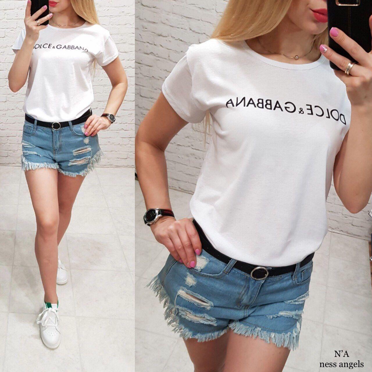 Комфортная женская футболка хлопок 44h (в расцветках)