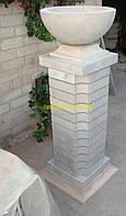 Садовая поилка купальня для птиц декоративная чаша бетонная вазон уличный ф500мм.