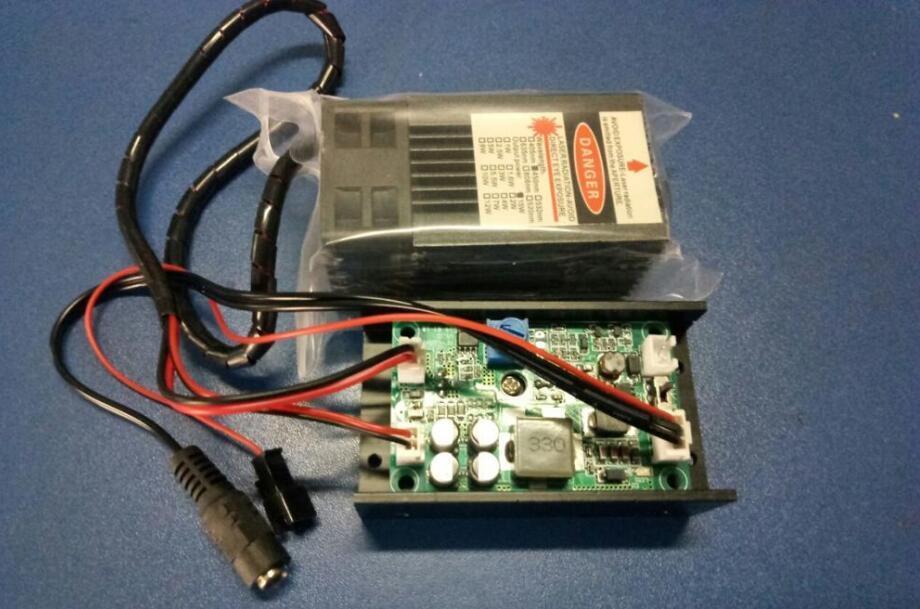Лазерный модуль 15 Вт. Лазер 15 Вт. Лазерная головка с модулем TTL
