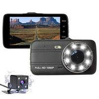 Автомобильный видеорегистратор с камерой заднего хода, с ночной сьёмкой  T657 1080 FULL HD