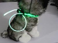 Декоративный шнурок для подсветки ошейника 80 см зеленый