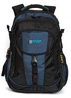 Рюкзак для ноутбука с USB Power In Eavas 8518 black-blue