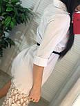 Женское платье-рубашка с кружевом (в расцветках), фото 2