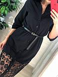 Женское платье-рубашка с кружевом (в расцветках), фото 6