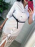 Женское платье-рубашка с кружевом (в расцветках), фото 7