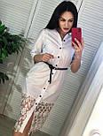 Женское платье-рубашка с кружевом (в расцветках), фото 5
